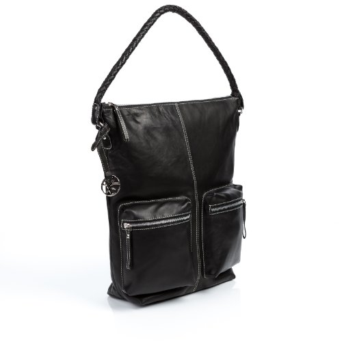 BACCINI Hobo Bag REINA Black – Shoulder bag, genuine leather, Bags Central