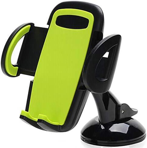 カーホンホルダーカーナビゲーションブラケットサクションインスツルメントパネル携帯電話ホルダーカーサプライ (色 : Green)