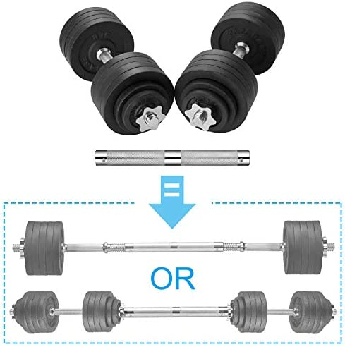 papababe Adjustable Dumbbells Cast Iron with Connector 40, 50, 65, 105, to 200 LBS, Adjustable Dumbbell Sets, Lifting Dumbells.