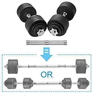 Well-Being-Matters 41WS5Gn3EXL._SS300_ papababe Adjustable Dumbbells Cast Iron with Connector 40, 50, 65, 105, to 200 LBS, Adjustable Dumbbell Sets, Lifting…