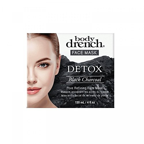 body drench face mask detox black charcoal ounce jar