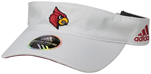(NCAA Louisville Cardinals Adult Men Spring Game Visor, One Size, White)