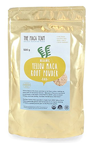 Raw Maca Root Powder Fresh From Peru - Certified Organic, Wildcrafted Harvest, Fair Trade, Gmo-free, Raw & Vegan, 1 Lb, 50 Servings