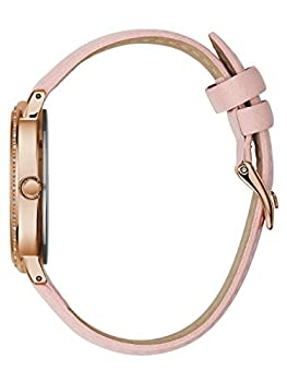 Guess Women's Quartz Stainless Steel & Leather Casual Watch, Color:pink (Model: U0032l7) 2
