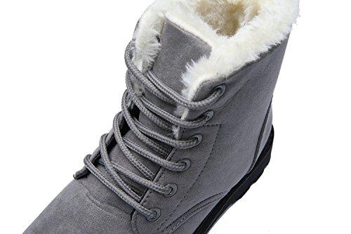 Stringati Scamosciato da Donna Bassi Grigio 35 Neve Antiscivolo 43 Stivali Inverno Stivaletti SPEEDEVE 4qT5RR