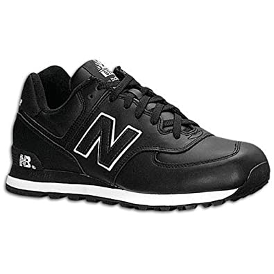 | New Balance Men's 574 Leather ( sz. 11.0, Black