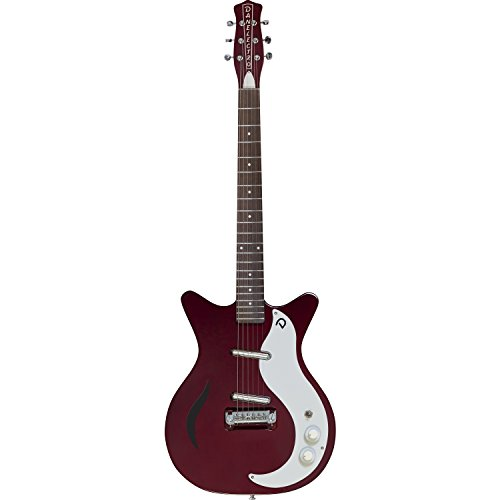 Danelectro '59M Chianti Spruce Electric Guitar with '59 DC Shorthorn Shape – 3-Way Pickup Switch with 2 '56 Lipstick Pickups