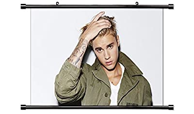 Justin Bieber Sexy Fabric Wall Scroll Poster (32x21) Inches