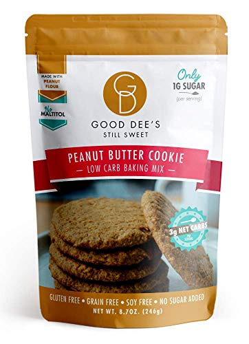 Good Dee's Peanut Butter Cookie Mix - Low Carb, Keto Friendly, Diabetic Friendly, Sugar Free, Gluten Free (Yellow Cake Mix Chocolate Chip Cookie Recipe)