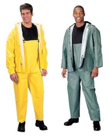 Rothco PVC Rain Suit, Yellow/Olive Drab, X-Large