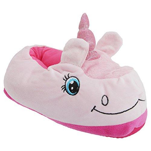 Zapatillas de estar por casa con diseño de unicornio 3D para mujer Púrpura