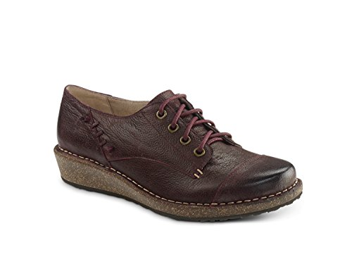 Aetrex Riley Cap Toe Con Cordones Oxford Burdeos