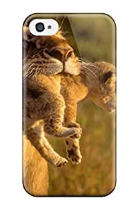 Hot Snap-on Lion Hard Cover Case/ Protective Case For Iphone 4/4s wangjiang maoyi