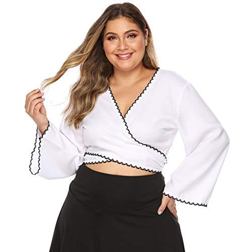 Yezijin_Swimsuit Beach Tops for Women Plus Size, YEZIJIN Women's Bench Long Sleeve Ruffle Casual Blouse Tunic Tops Solid Color
