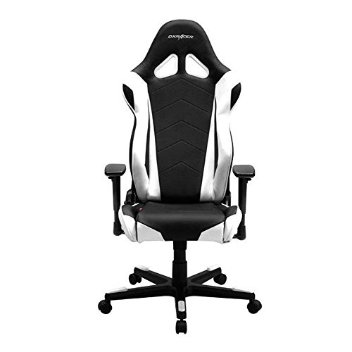 DXRacer OH/RE0/NW Black & White Racing Series Gaming Chair DXRACER