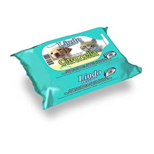 Lindocat Pet Wipes Citrus Perfumed