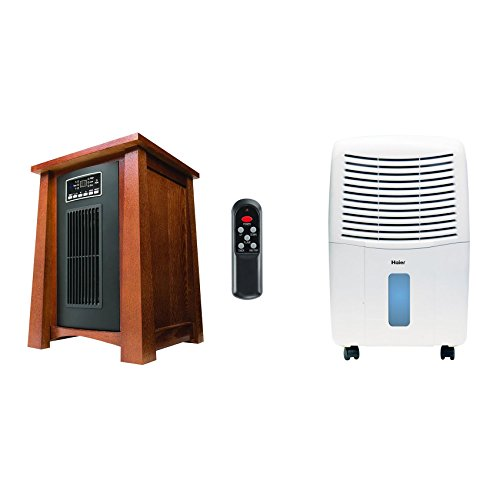 Haier 3 Heat Setting Infrared Zone Heater + Haier 32 Pint Mobile Dehumidifier Haier Infrared Heaters