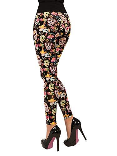 Forum Novelties Women's Day Of The Dead Leggings, Multi, One Size ()