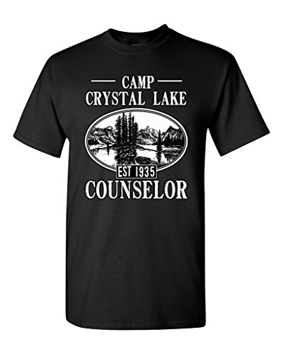 Camp Crystal Lake Counselor 1935 Summer TV Parody Funny DT Adult T-Shirt Tee (XXX Large, Black)