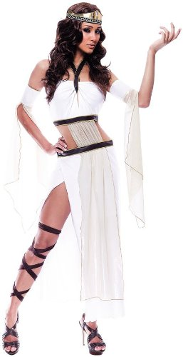 [Paper Magic Womens French Kiss Grecian Goddess Costume, White/Brown, Small] (French Kiss Costume)