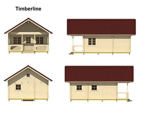 Allwood Timberline 483 Sqf Kit Cabinhe Shed