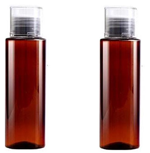 2PCS 100ML PET Plastic Empty Shampoo Emulsion Cosmetics Water Bathroom Makeup Water Travel Split Wash Bottle Container Box (Brown)