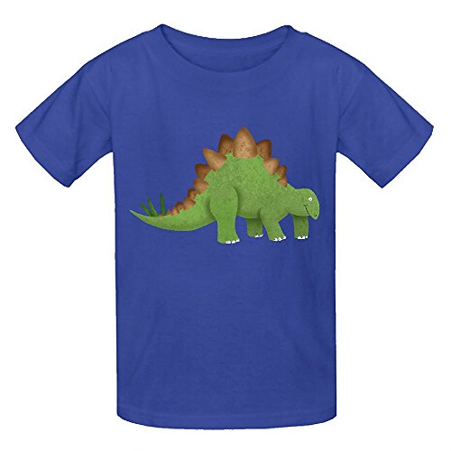 Happy New Year Horn (Snowl Stegosaurus Funny Boys' Crew Neck Short Sleeve Tee)