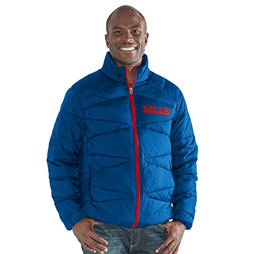 G-III Sports NFL Buffalo Bills The Blitz Full Zip Packable Jacket, Large, Royal Buffalo Bills Mens Jackets