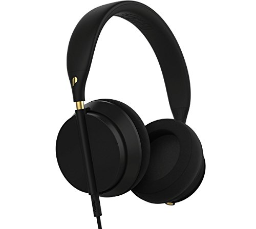 Plugged Crown Series Headphones, Black/Gold ()