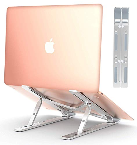 Find Bargain COMSOON Laptop Stand, Adjustable Portable Laptop Holder for Desk, Aluminum Ventilate...