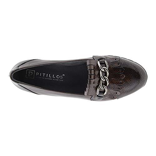 Cuir Verni Marron En Lisse Et Chaussures Pitillos qBpYndIwp5