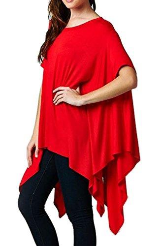 Vestido de las mujeres ocasionales sueltas tamaño Mini Red