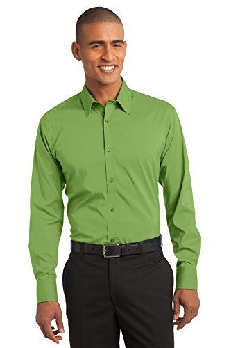 Stretch Poplin Shirt XL Wintergreen ()