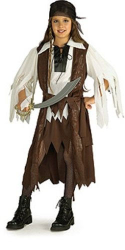Rubies Halloween Concepts Children's Costumes Caribbean Pirate Queen - Small