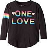 Chaser Kids Baby Girl's Soft Vintage Jersey One Love Tee (Toddler/Little Kids) Union Black 6