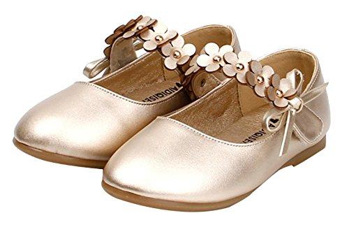 EOZY Mädchen Ballerinas Prinzessin Schuh Festliche Schuhe Party Hochzeit Gold