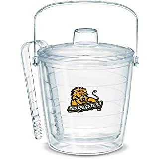 Tervis 1053479 Southeastern Louisiana Lions Logo Ice Bucket with Emblem and Clear Lid 87oz Ice Bucket, Clear