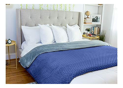 Cheap Harmonia Duvet Cover for Weighted Blanket 60x80 (Queen/Full) Minky Dotted - Navy Black Friday & Cyber Monday 2019