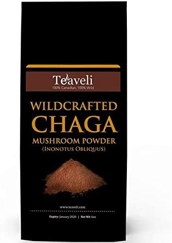 Premium Chaga Mushroom Powder- Powerful Support for Healthy Immune System- Ethically Wildcrafted- Chaga Powder for Chaga Tea Chaga Coffee- Add to Coffee Smoothies- Made Without GMO, Fillers-6 oz