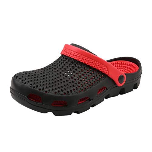 Corriee Garden Clogs for Men Shoes Mules Massage Boat Sandals Summer Beach Slippers Mens Water Shoe Black