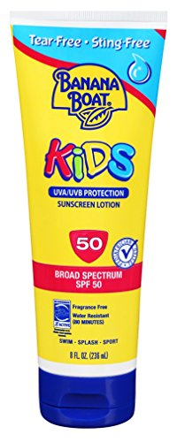 - Banana Boat Kids Tear Sunscreen Lotion SPF 50, 8 Ounce (Pack of 3)