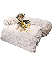 Dog Bed Mats, Calming Bed For Dogs, Plush Pet Bed, Dog Blanket For Couch, Faux Fur Dog Bed, Soft Plush Dog Mat Sofa, Sofa Slipcover Removable Mattress