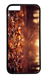 MOKSHOP Adorable autumn leaves ground sunset Hard Case Protective Shell Cell Phone Cover For Apple Iphone 6 Plus (5.5 Inch) - PC Black by Maris's Diary