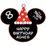 Personalized Mickey Birthday Hat Magnet | Disney Cruise Birthday Magnet | Birthday Mouse Head Magnet for Disney Cruise Cabin Door