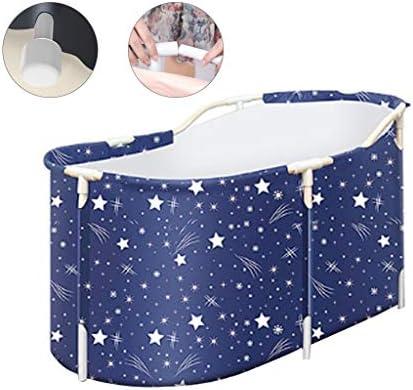 折りたたみ式浴槽家庭用浴槽子供大人用折りたたみ式全身浴槽厚い保温全身浴槽家庭用浴槽保温性 浴室用設備 (Color : Blue, Size : 120*70*60cm)