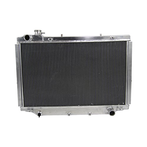 - ALLOYWORKS 4 Row Aluminum Radiator for Toyota Land Cruiser 80 Series HZJ80 HDJ80 MANUAL 1990-98
