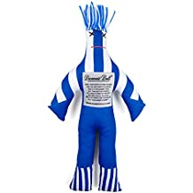 Dammit Doll Win The Legend - Blue & White - Stress Relief - Gag Gift - Sports Teams