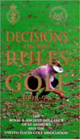 Book Decisions on the Rules of Golf 1998-99