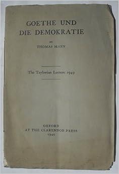 Resultado de imagen de Goethe und die Demokratie