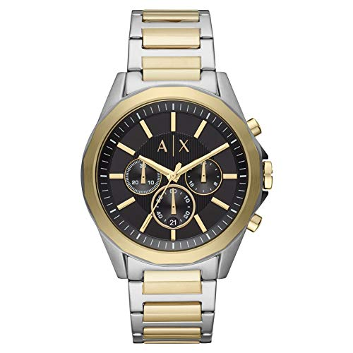 Armani Exchange Mens Chronograph Quartz Watch with Stainless Steel Strap ()
